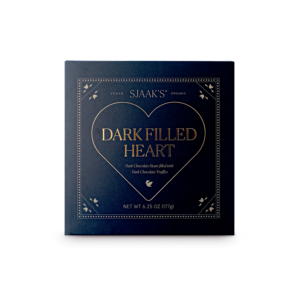 Front view of the Dark Filled Heart Assortment box