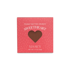 Front view of the Peanut Butter Crunch Sweetheart box