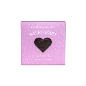 Front view of the Raspberry Truffle Sweetheart box