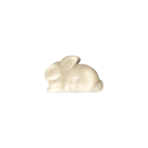 Bunny shaped white chocolate